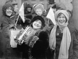 Demonstrating for the right to vote. February 1913. (Wiki Commons)