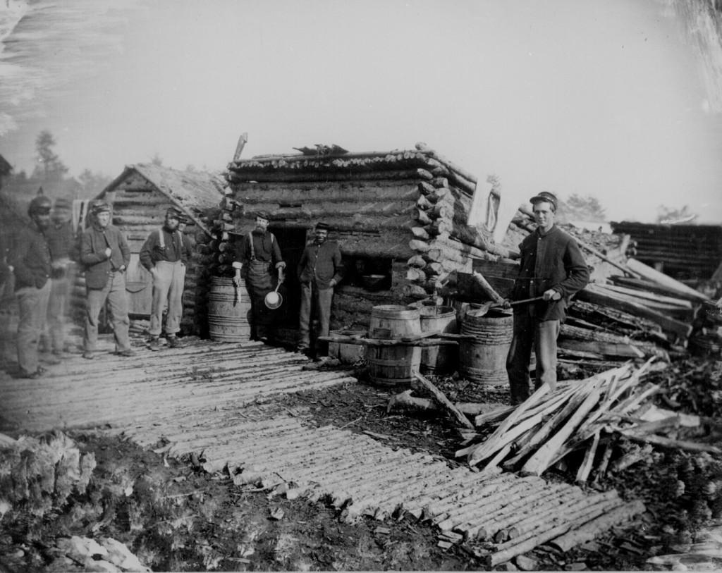 Log hut company kitchen, 1864.