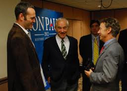 Vince Vaughn with Ron and Rand Paul