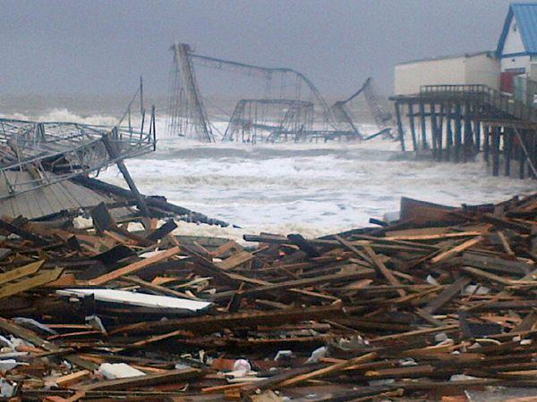 New Jersey Boardwalk; Hurricane Sandy. 2012