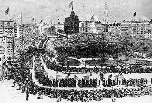 Labor Day Parade, Union Square, New York, 1882.