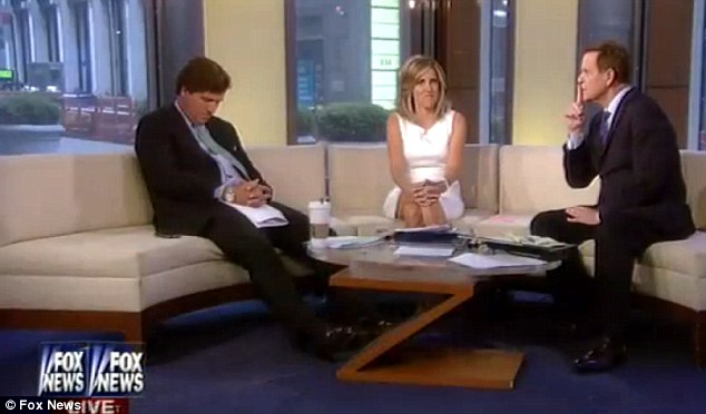 Tucker Carlson on Fox & Friends dreaming up new talking points.