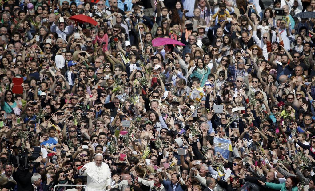 Pope Francis-- Palm Sunday. 2014.