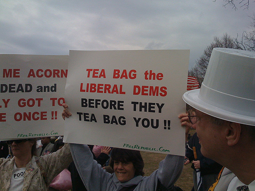 And so that guy wants to tea bag me?
