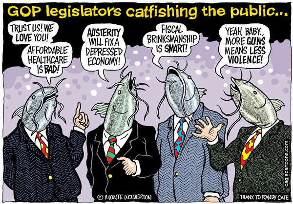 GOP Lawmakers catfishing the voters.