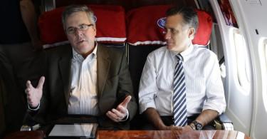 Jeb Bush and Mitt Romney
